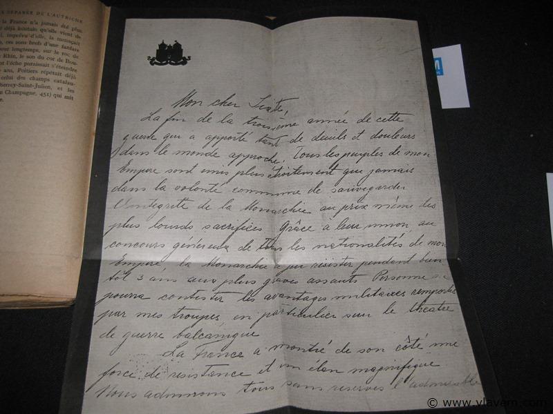 Belangrijk historisch  in boekvorm werk periode wereldoorlog 1(1914-1918)met twee eigenhandig geschreven brieven van Keizer Charles en 1 van Graaf Czernin