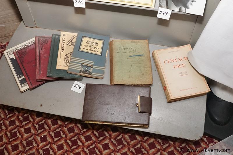 Oude boekjes en landkaart