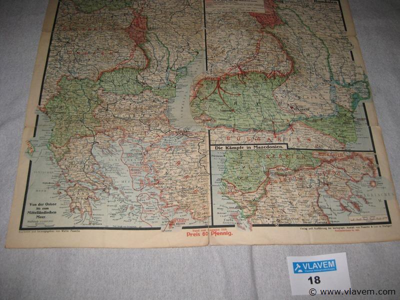 Oude landkaart