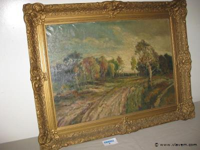 Oud schilderij op doek