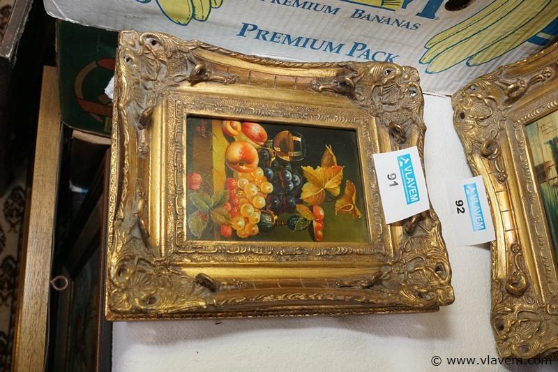 Oud schilderijtje op hout