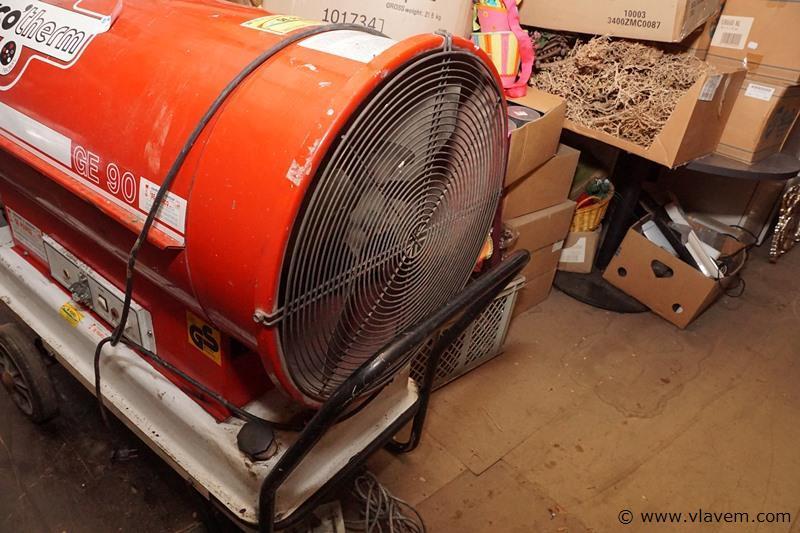 Proffessionele warmtebrander op mazout of petrol met thermostaat en op wielen