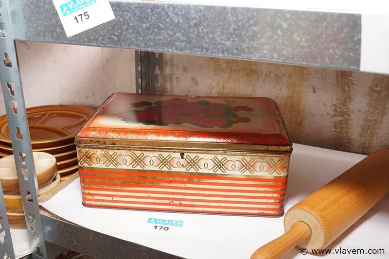 Oude blikken doos