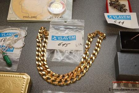 Zware gold plated halsketting