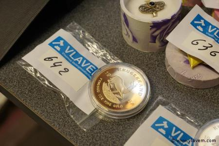 Gold plated souvenirmunt Krugerrand