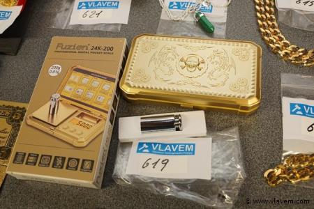 Proffessioneel gold plated juwelenweegschaal van 00