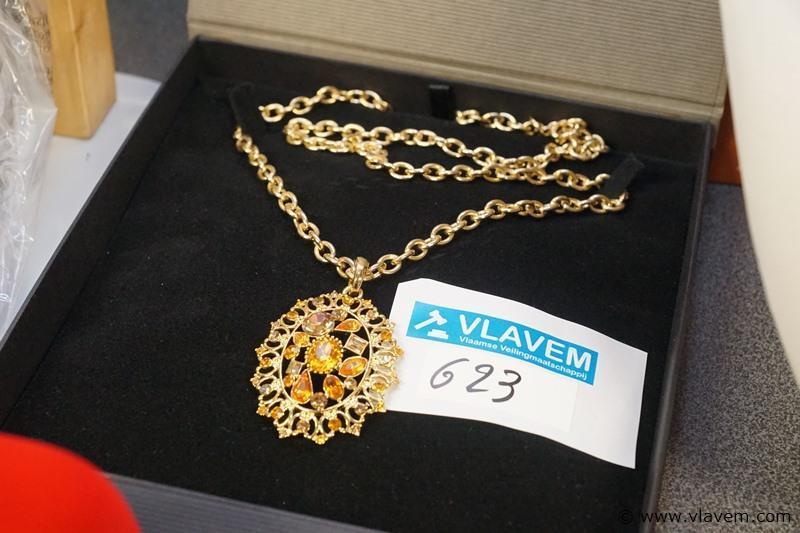 Gold plated halsketting met hanger