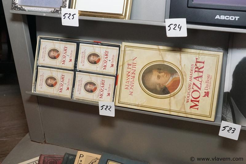 Cassettes Mozart in doosje