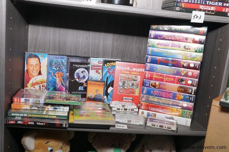 Dvd's cassettes  enz. voor kinderen