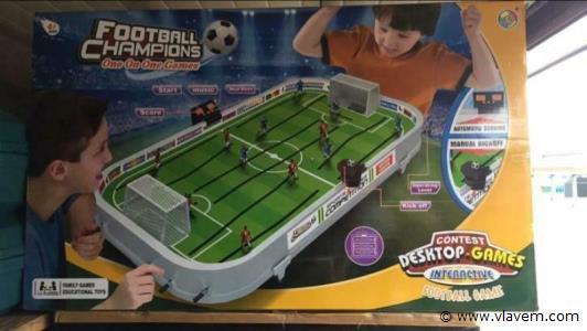 Voetbal game Groot