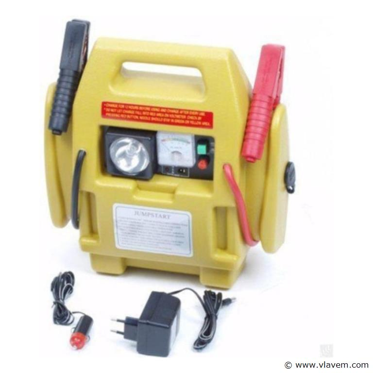 Jumpstarter 3 in 1, Jumstarter, compressor en lamp in één