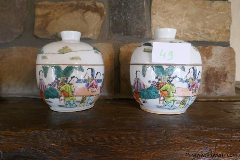 Japanse potten met deksel