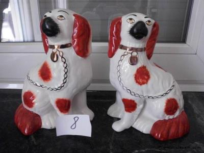 Staffordshire dog set.