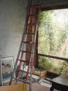 dubbele aluminium ladder