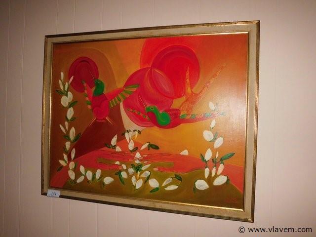 schilderij in kader