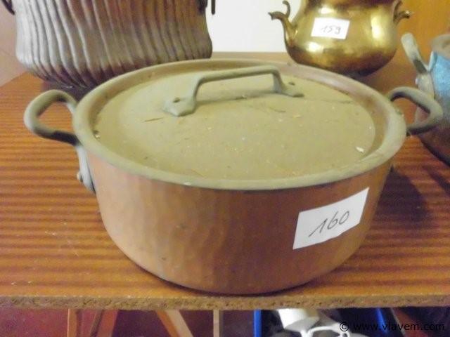 koperen pot met deksel