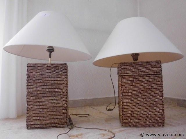 2 tafellampen