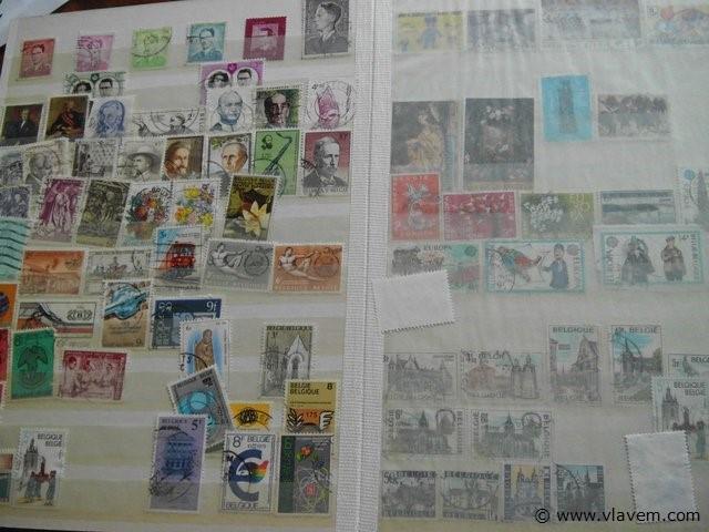 boek met postzegels