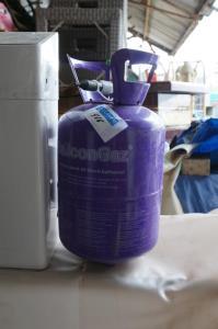 Ledige container voor ballongaz