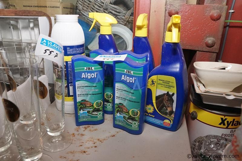 Partij diverse produkten voor aquarium en dieren