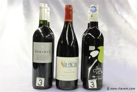 6 flessen wijn rood 3x2,