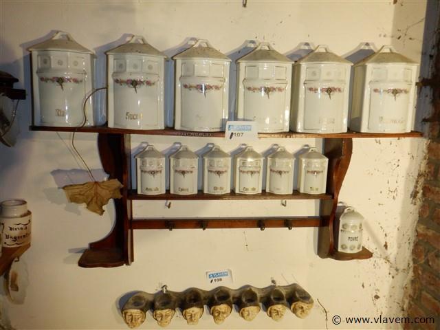 antiek kruidenrek