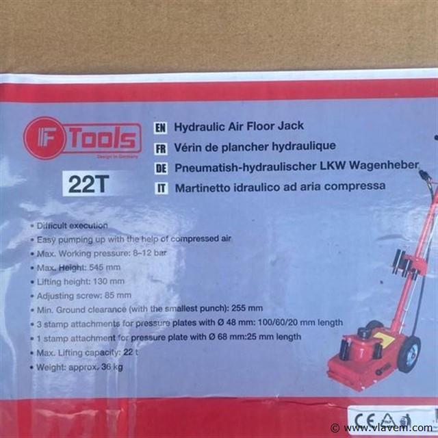 Hydraulische luchtkrik 22 ton