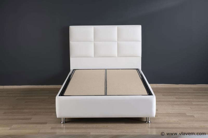 Bed met opbergbox Hypersoft Wit PU 140 cm