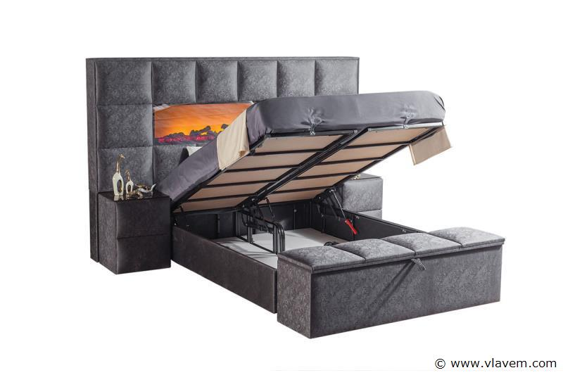Bed met opbergbox Furla Trento 160 cm
