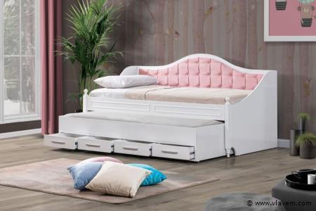 Dubbel bed met opbergruimte
