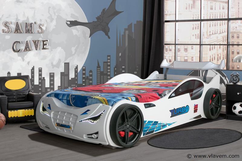 Turbo raceautobed Wit
