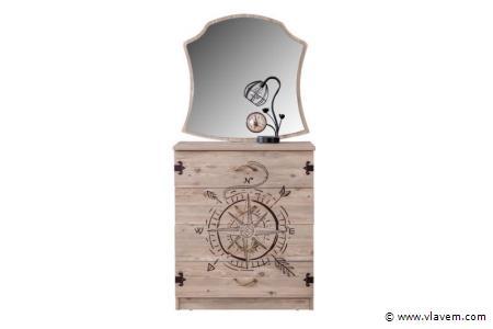 Marin houten ladekast met spiegel