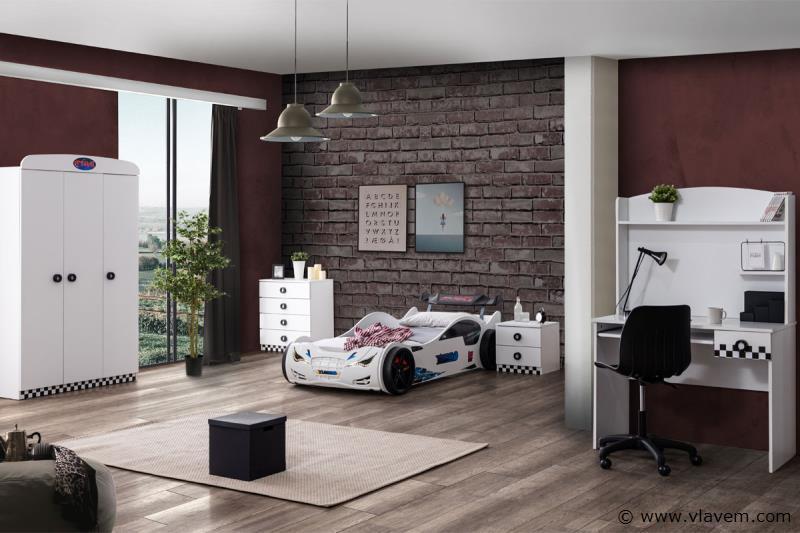 Nachtkastje Turbo Wit
