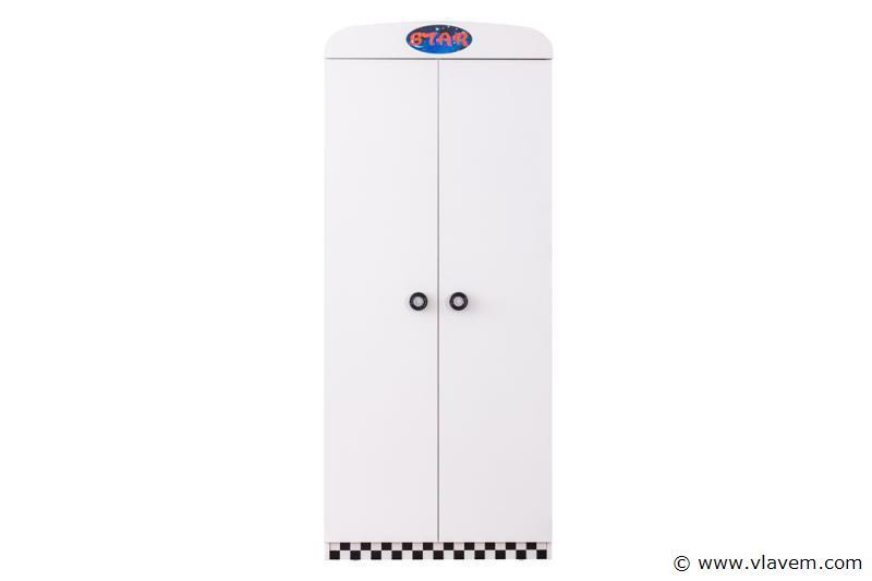 Turbo kledingkast 2 deuren Wit
