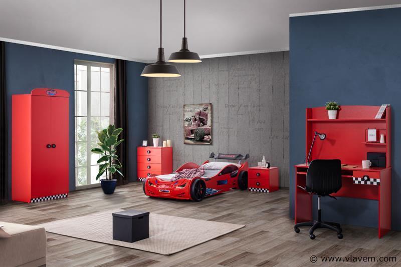 Turbo kledingkast 2 deuren Rode
