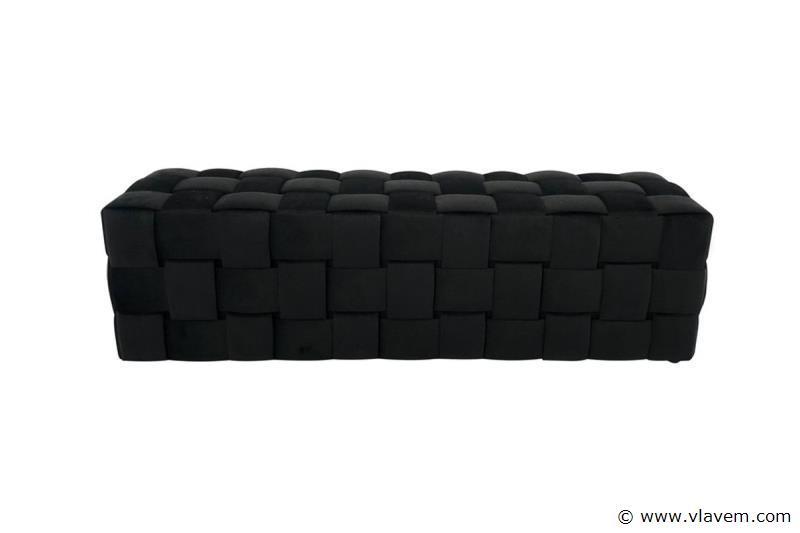 Opiness Black Velvet bank met opbergruimte 160 cm