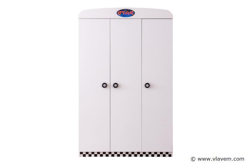 Turbo kledingkast 3 deuren Wit