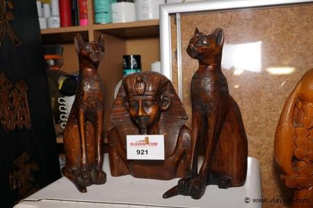 Egyptische beelden 3 stuks