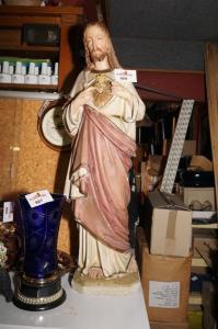 Religieus oud beeld H 85 cm