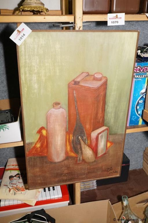 Schilderij op paneel getekeznd afm 48 cm x 72 cm