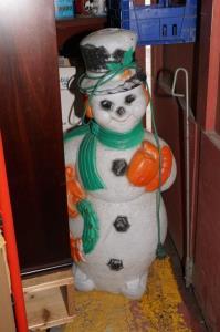 Sneeuwman met verlichting in kunststof H 110 cm