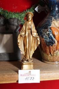 Religieus beeldje hoogte 19 cm