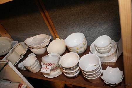 Diverse kommen in porcelaine plm 25 stuks