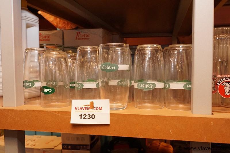 Oude kolibri glaasjes plm 24 stuks