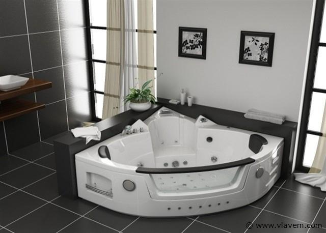 2 persoons massagebad, 152x152cm.