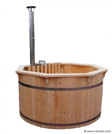 Hot tub met interne kachel
