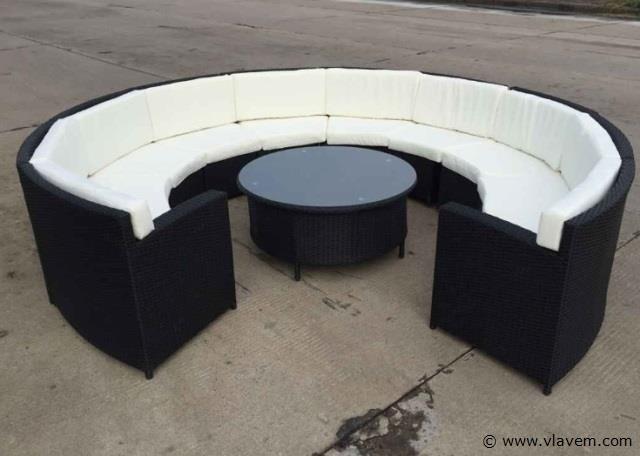 Lounge set rond met kussens