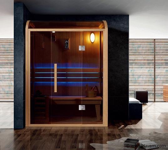 Sauna met Harvia kachel