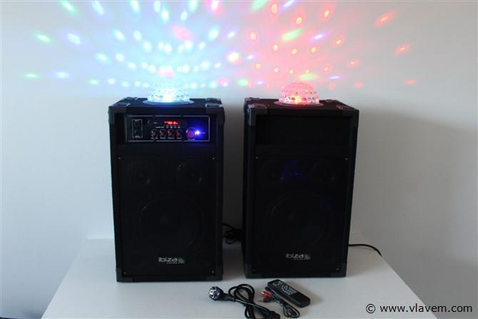 Actieve boxen met licht